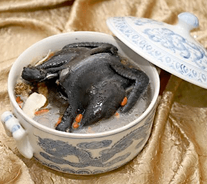 Confinement Food Menu Black Chicken Soup with Dang Gui