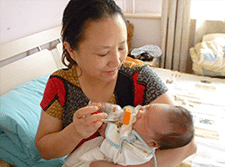 Confinement Nanny MAR Feeding New Born Baby Milk
