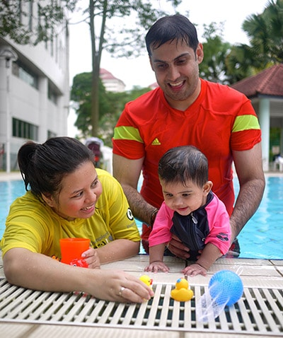 Baby Swimming Lessons Singapore for New Born