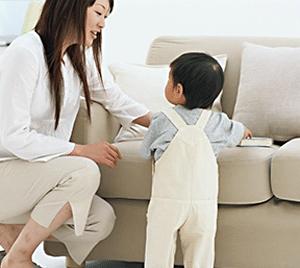 mummy ad hoc babysitter and toddler