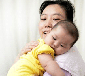 Chinese Nanny Babysitter Baby