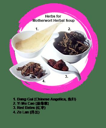 Motherwort Herbal Soup Confinement Food Recipe