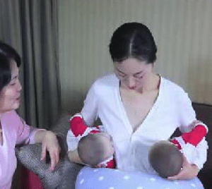 breastfeeding twins with confinement nanny