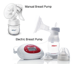 Manual or Electric Breast Pump