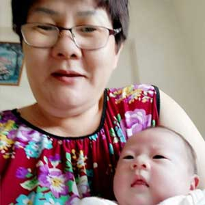 Confinement Lady Zhen with Baby