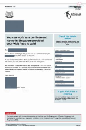 Confinement Lady Work Permit 13